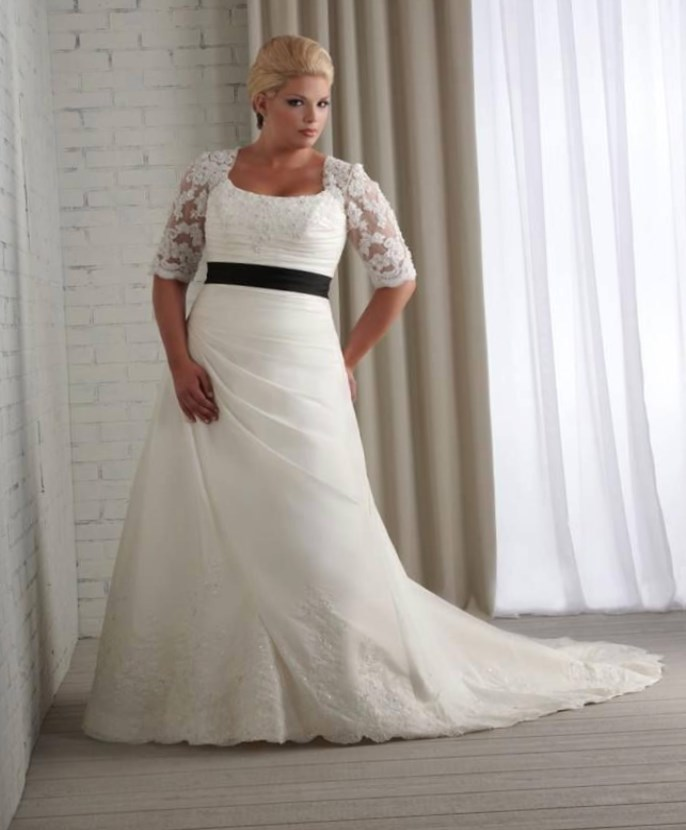 Plus size fall wedding dresses bridal gowns 2018 for Non traditional wedding dresses plus size