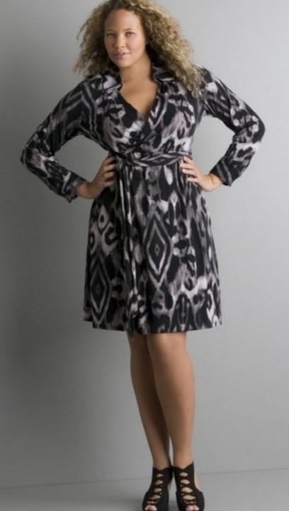 Plus size zebra print dresses: animal print clothing ideas