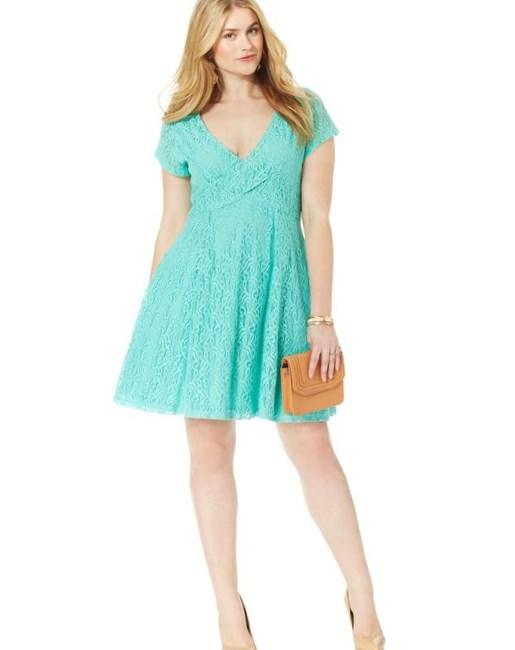Jessica Simpson Plus Size Kaitlee Lace A-Line Dress - Dresses - Plus Sizes -