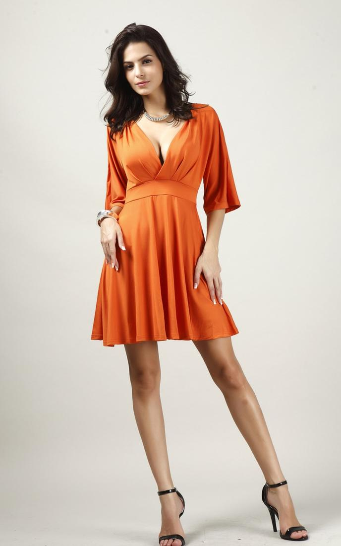 Plus Size Plunge Dress Orange - Plus Size - Plus Size Dresses - Missguided