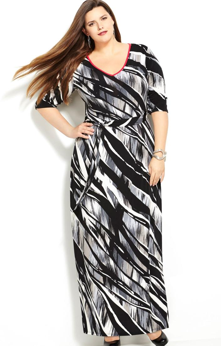 More images of black and white plus size dresses