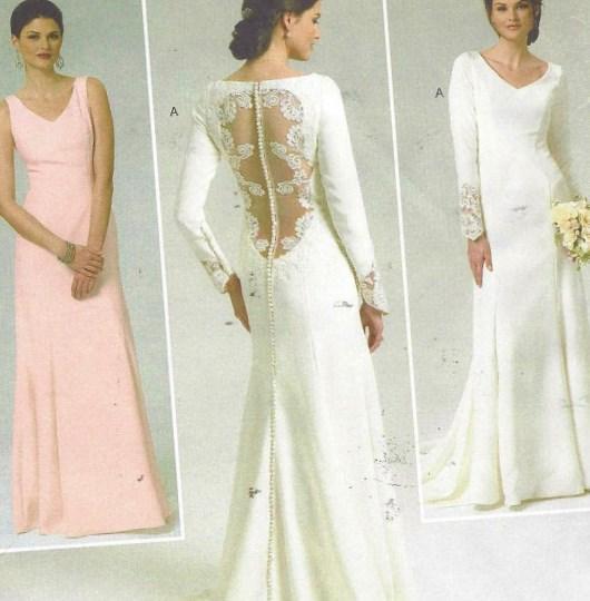Wedding Dress Plus Size Patterns : Plus size wedding dress pattern butterick sewing b womens