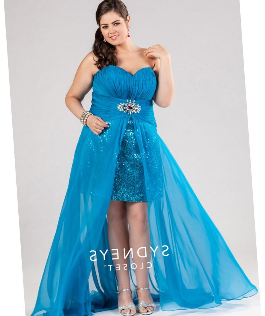 prom dresses plus size high low Sydney39s Closet 2017 Prom Dresses Ocean Blue Too Flirty High
