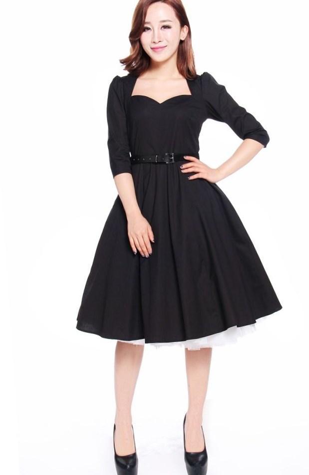 Rockabilly prom dress plus size