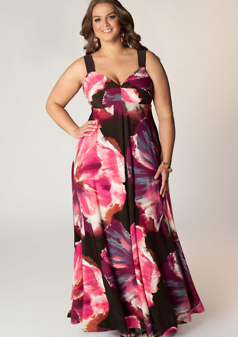 Plus size sexy maxi dress