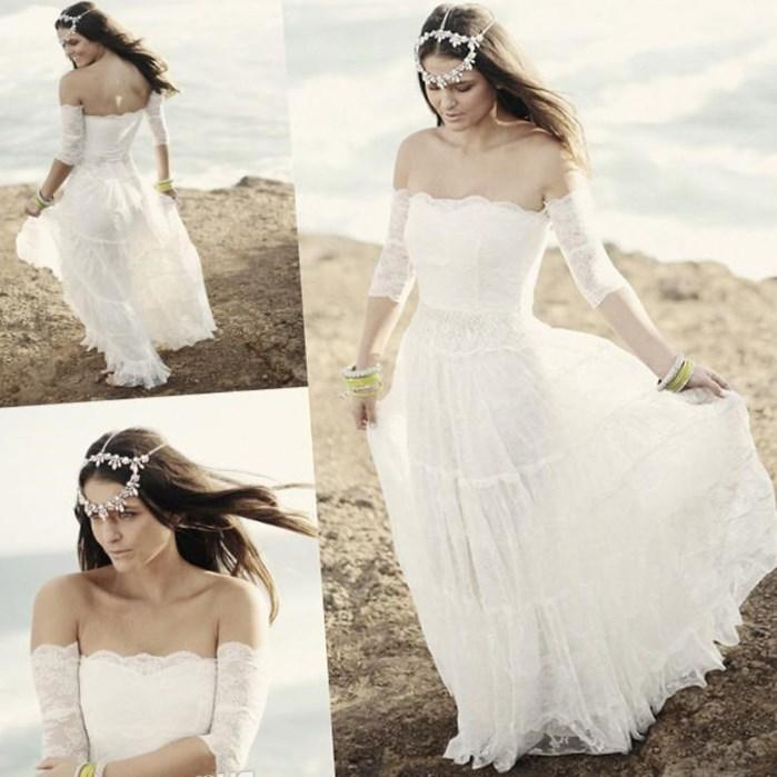 No.333 - Size XS-5X Hippie Boho Wedding Dresses, Plus Size Bohemian