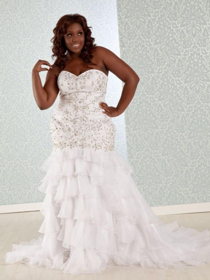 White Plus Size Wedding Dress