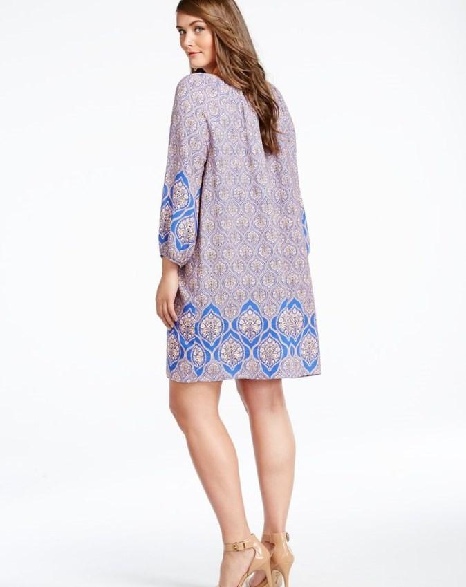 Paisley Pattern Dress In Blue