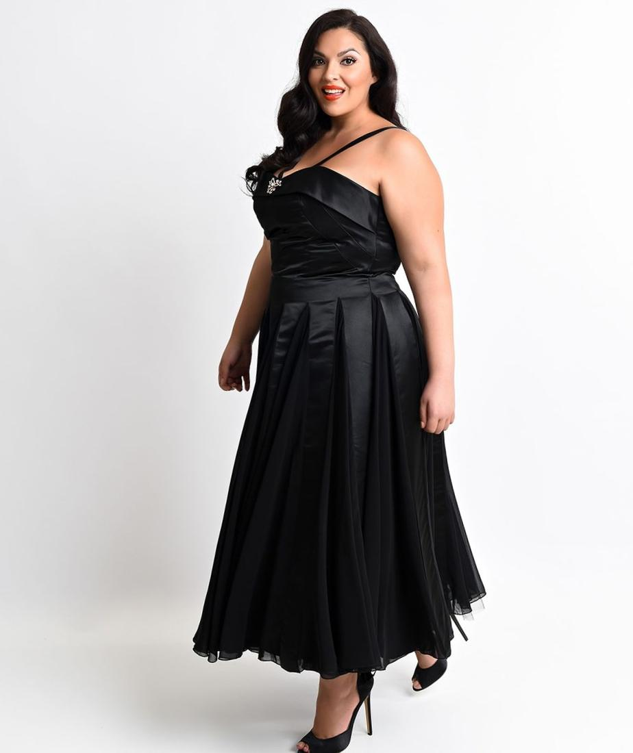 Satin plus size dresses