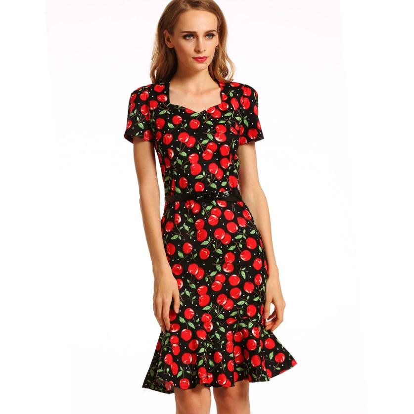 Plus Size Cherry Dress Pluslook Collection