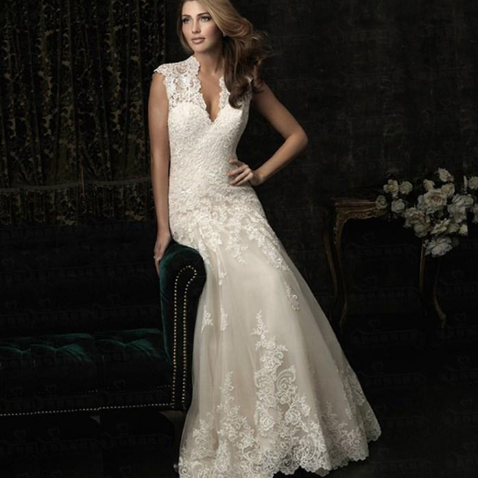 New Vintage Plus Size Mermaid Lace Wedding Dress Hot Sale
