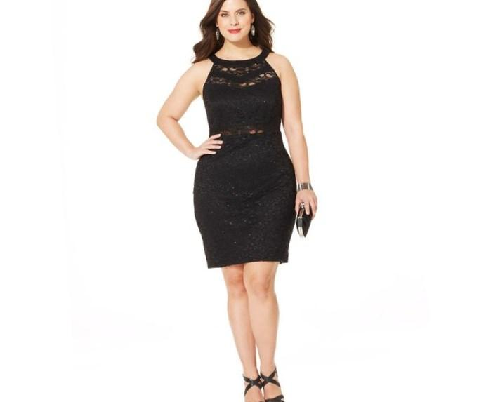 Image 4 of Club L Plus Size Midi Bodycon Dress With Lace Up Front