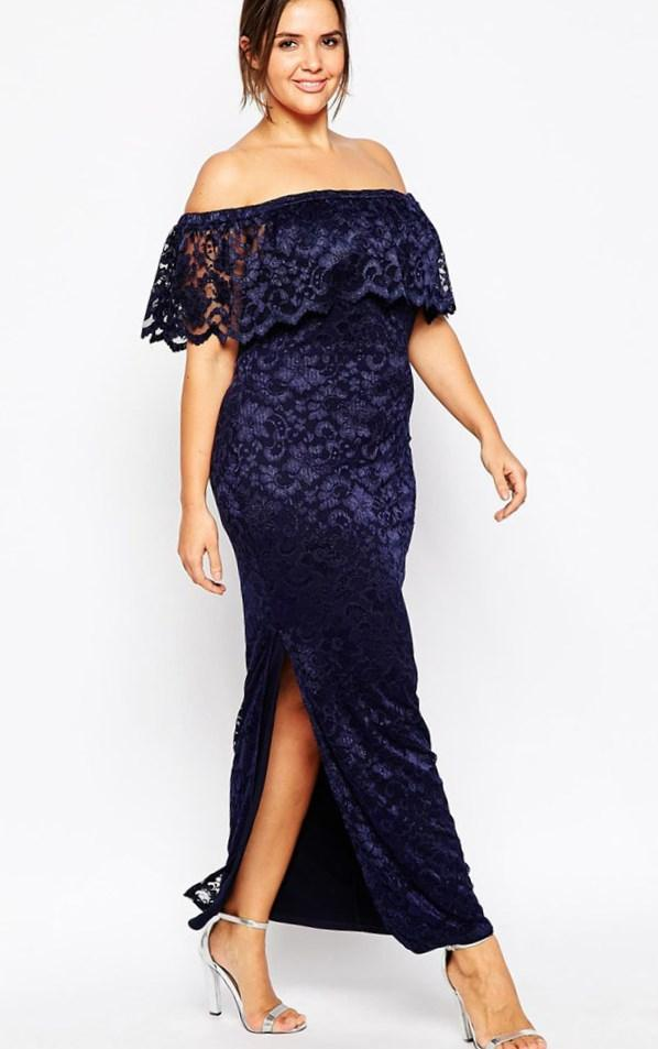 One Shoulder Dress Plus Size Maxi Coctail Wedding And Other Black
