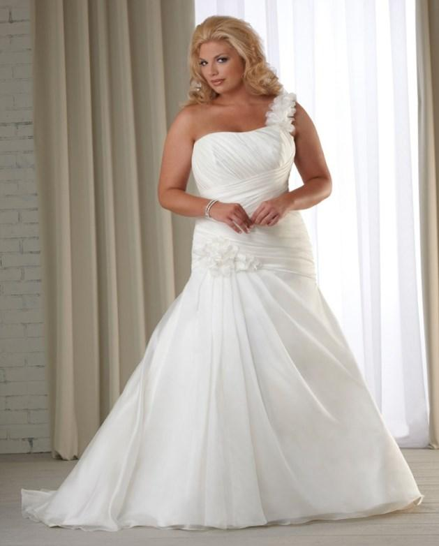 Plus size wedding dress under 100 pluslookeu collection for Plus size wedding gowns under 100