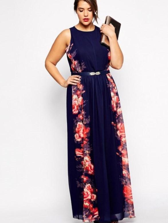Floral maxi dress plus size - PlusLook.eu Collection
