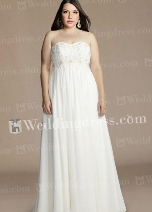 Plus size chiffon wedding dresses - PlusLook.eu Collection