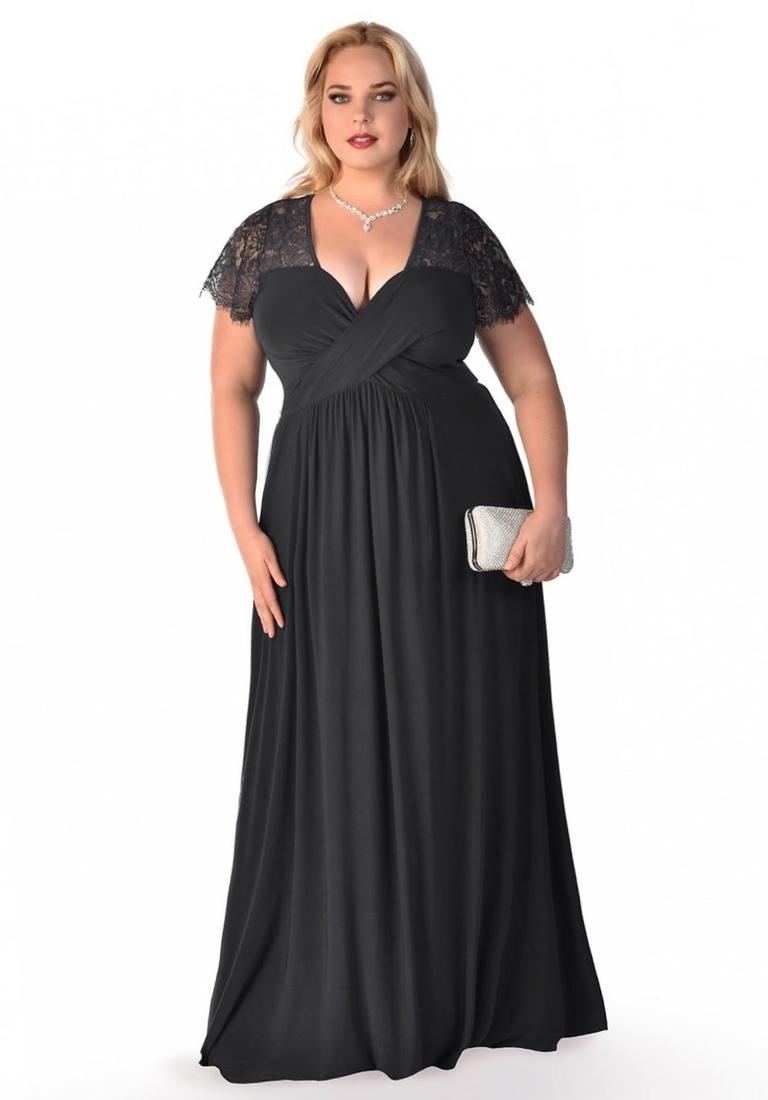 Plus size black dresses evening collection for Plus size black dresses for weddings
