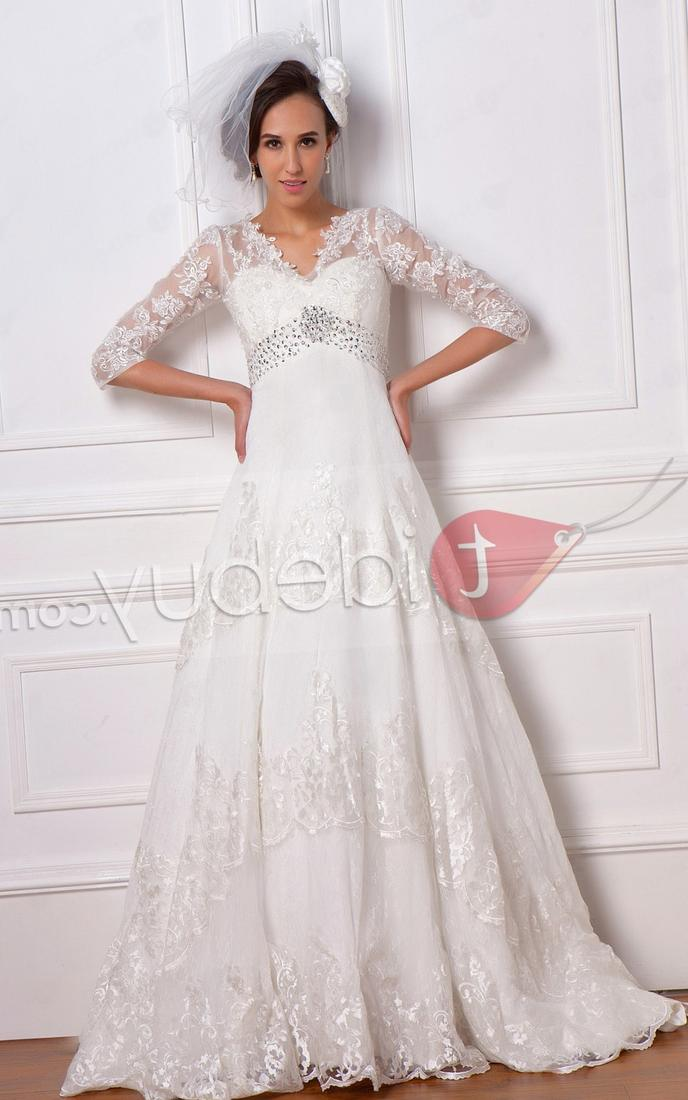 Plus size lace wedding dresses cheap collection for Plus size fall wedding dresses