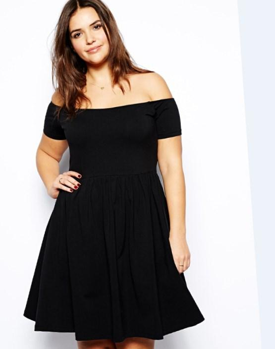 Black casual dress plus size