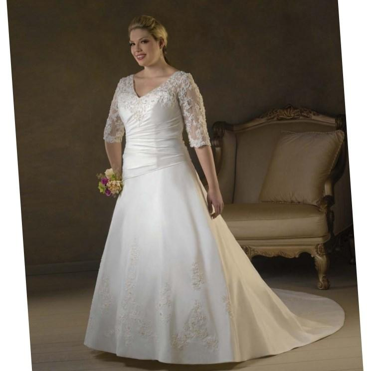 Wedding Dresses Long Sleeve Plus Size 45