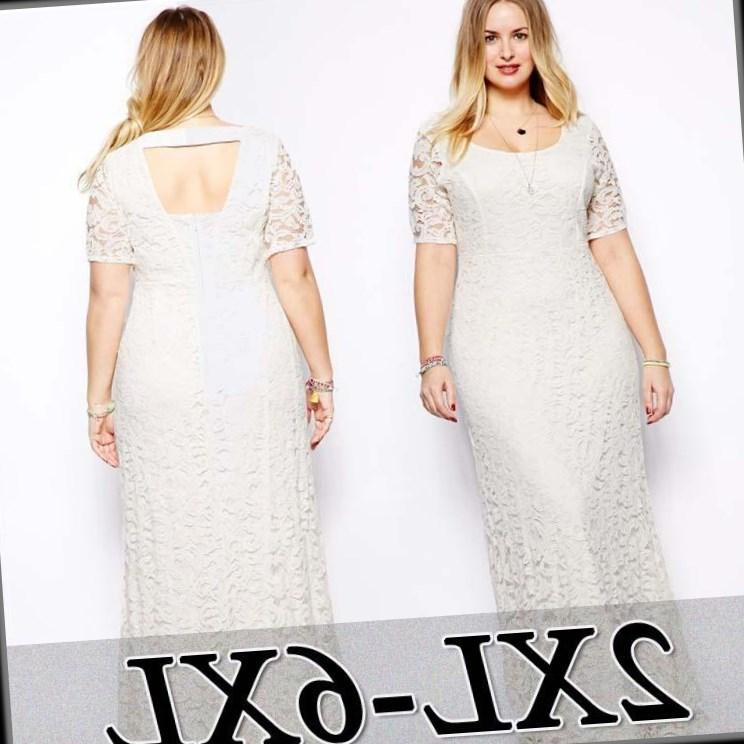All white plus size summer dresses
