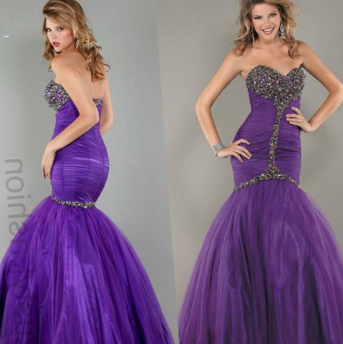 2017 New Elegant Purple Long Chiffon Plus Size Evening Dress Sheer Scoop See Through Back Formal
