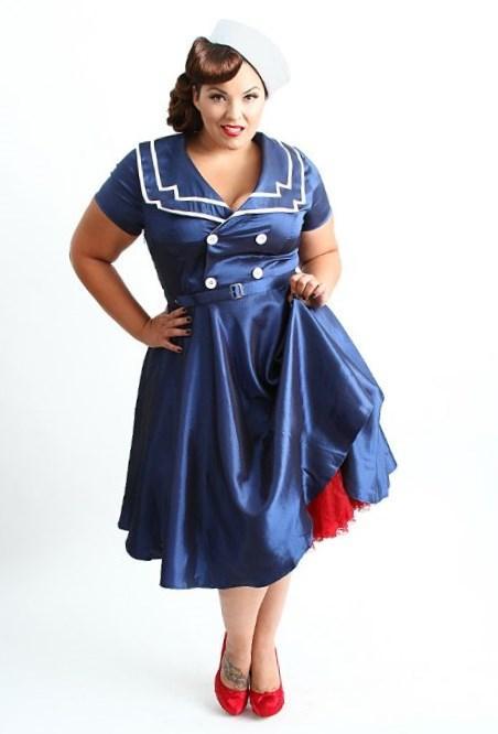 plus size fancy dress 70s bangs