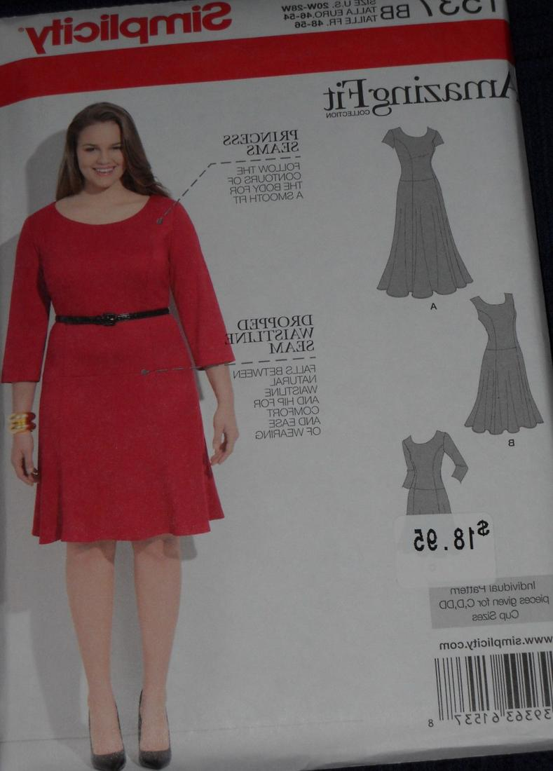 Plus size dress pattern pluslook collection simplicity 60s sewing pattern 8358 plus size full figure mad more jeuxipadfo Choice Image