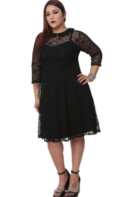Plus Size Fashion Find Gothic Skull Spiderweb Lola Rose Dress From Mystic Crypt