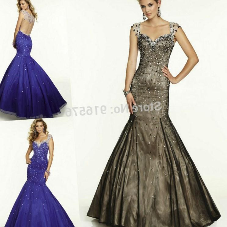 Neckline Cape Sleeves Sheer Net Back Crystals Beading Black Dress Women Plus Size Purple Prom Dresses