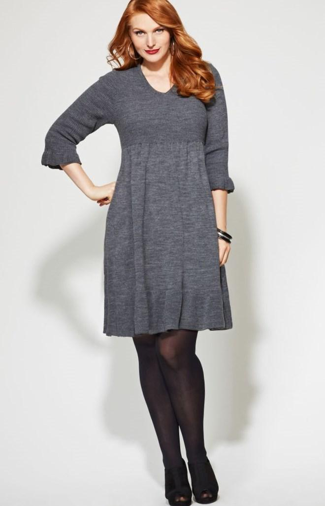 Plus Size Mad Style Navy Cap Sleeve Swing Dress