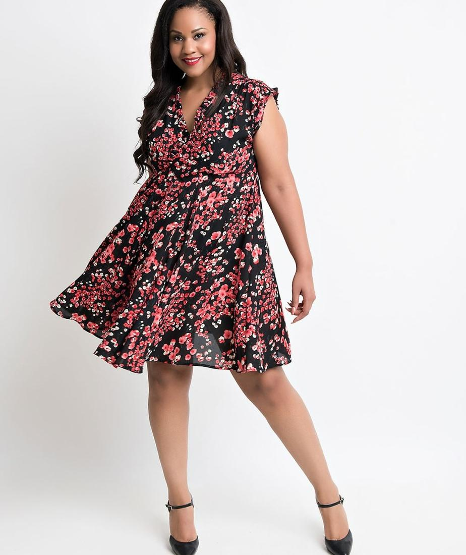 Plus Size Cherry Dress Pluslook Eu Collection