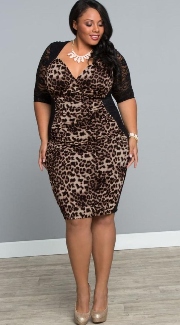 Leopard Plus Size Dress Pluslook Collection