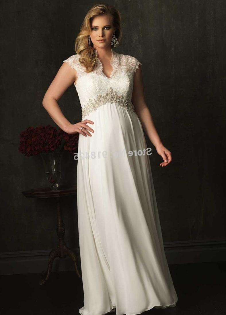 Plus Size Wedding Dresses With Empire Waist : Plus size wedding dresses with sleeves empire waist
