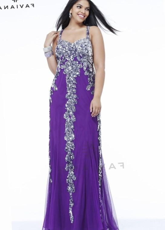 Purple Plus Size Prom Dresses With Sleeves Re Re