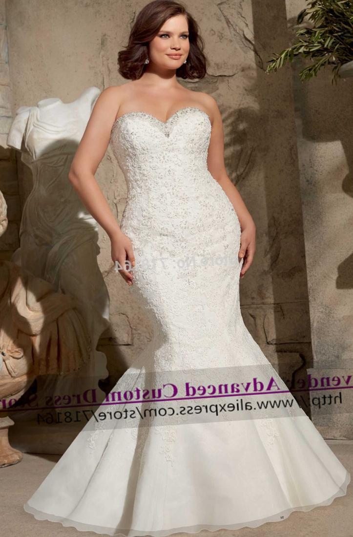 Romantic Sexy Mermaid Lace Plus Size Wedding Dress Vintage Bridal Gown Vestido De Noiva Renda Casamento