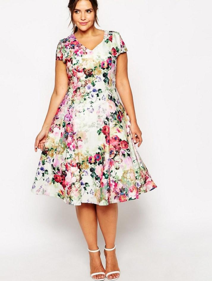 flower print plus size dresses – fashion dresses
