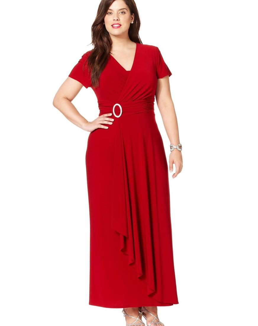 Love Squared Plus Size Dress, Long-Sleeve High-Low Belted Maxi - Junior
