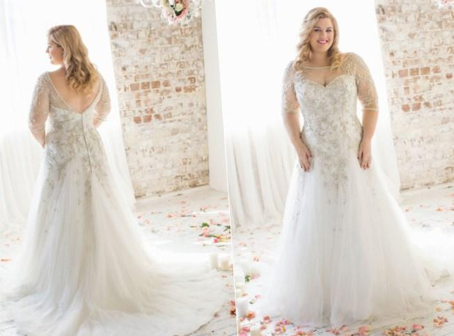 Designer Plus Size Wedding Dresses - Flower Girl Dresses