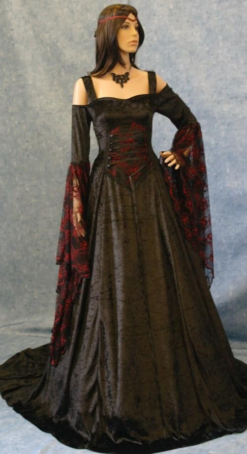 Medieval plus size dresses collection for Plus size celtic wedding dresses