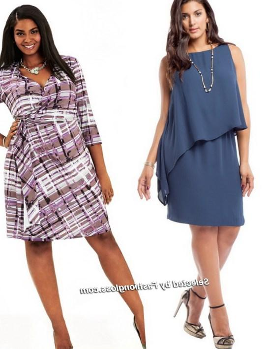 plus size women in dresses - pluslook.eu collection