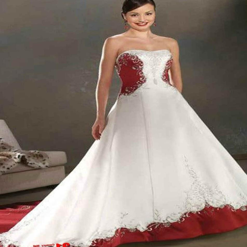 red and white plus size wedding dresses pluslookeu