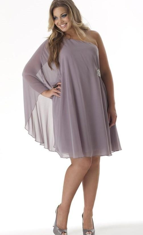 One sleeve dresses for plus sizes