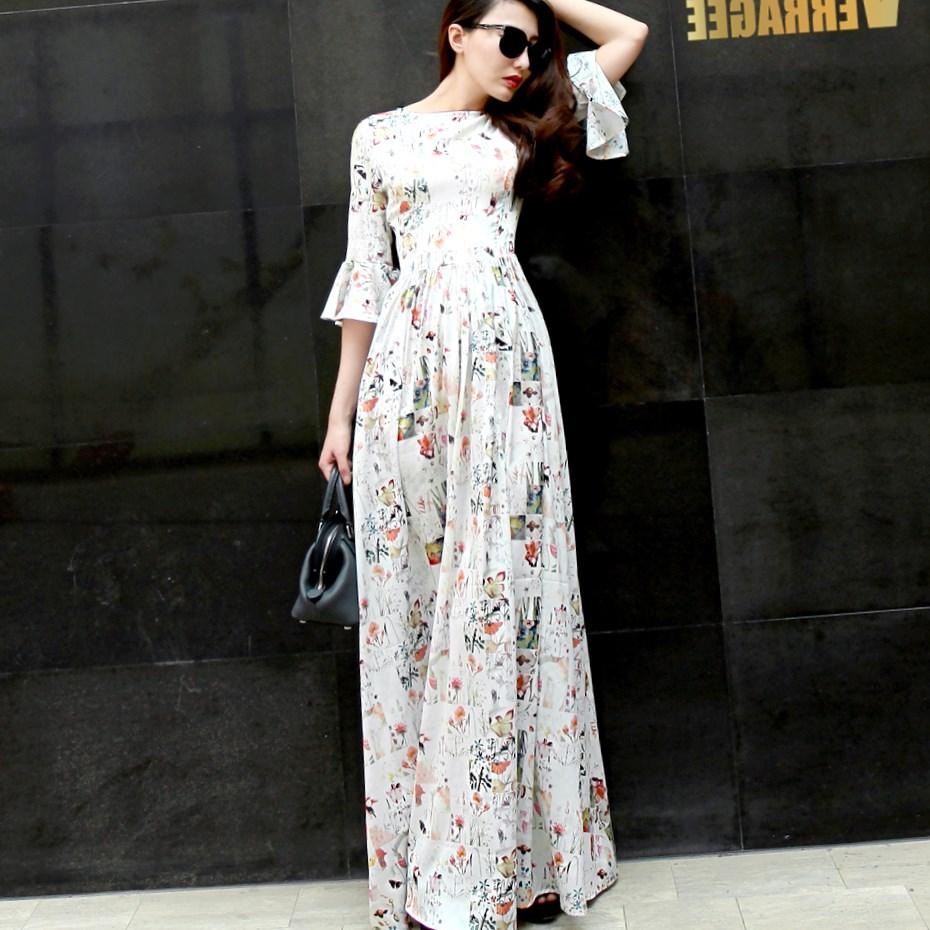 women chiffon Bohemia party dress Simple plus size S-3XL dress dot tank dress floor