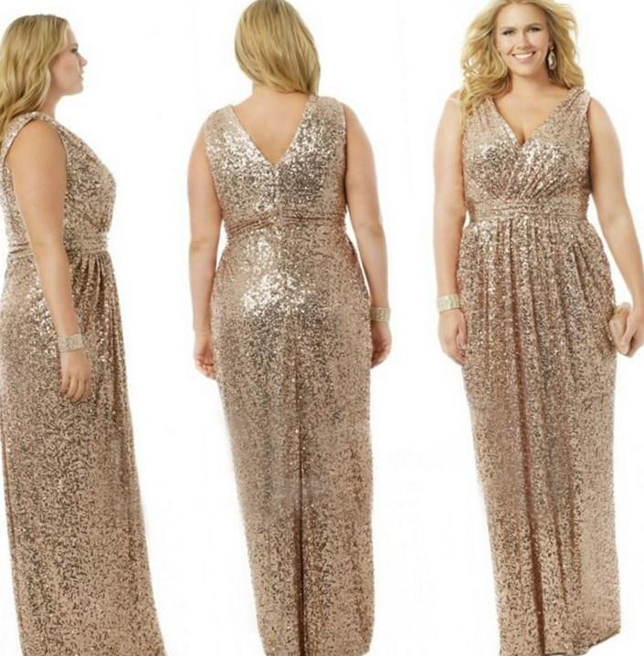 Black And Gold Plus Size Dresses