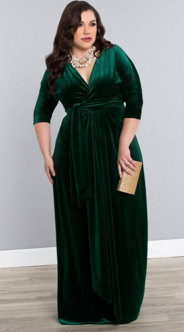 Maxi Wrap Dress Plus Size Pluslook Eu Collection
