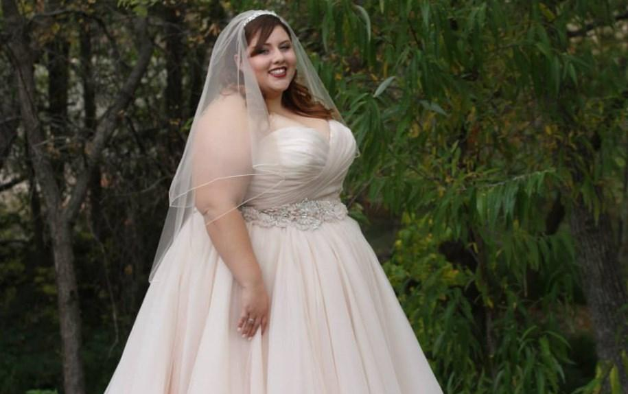 Pink plus size wedding dress collection for Cheap blush wedding dresses