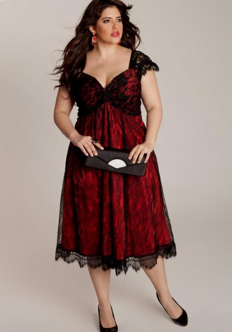 Red  Black Glitter Flocked Skater Dress With Patent Belt