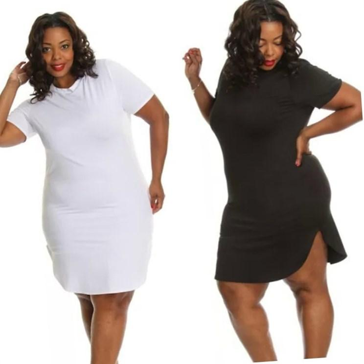 Plus Size Black Shirt Dress Pluslook Collection