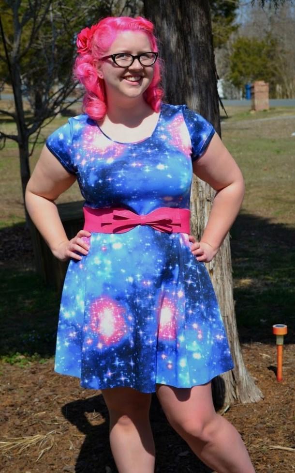 Plus size galaxy dress - PlusLook.eu Collection